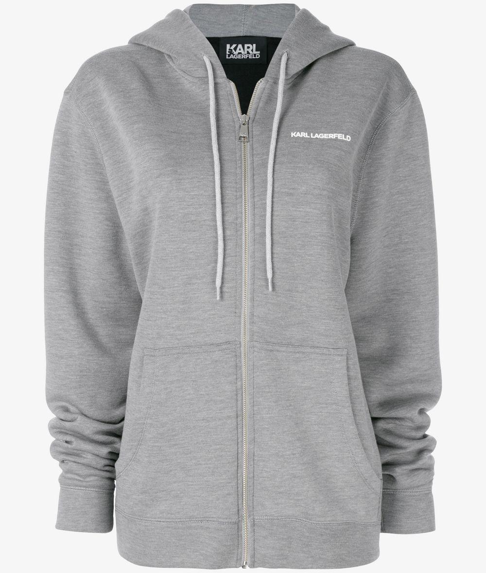 KARL LAGERFELD UNISEX - Karl's Essential Zip Hoodie Sweatshirt E f