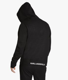KARL LAGERFELD UNISEX - FELPA CON CAPPUCCIO E ZIP KARL'S ESSENTIAL