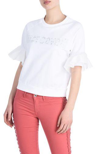 JUST CAVALLI Felpa Donna T-shirt maniche rouches f