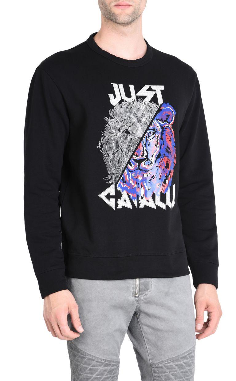 JUST CAVALLI Double-detail Leo sweatshirt Sweatshirt Man f