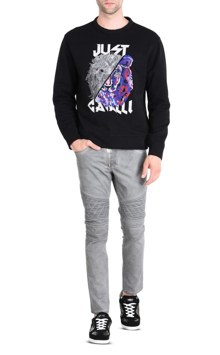 JUST CAVALLI Double-detail Leo sweatshirt Sweatshirt Man r