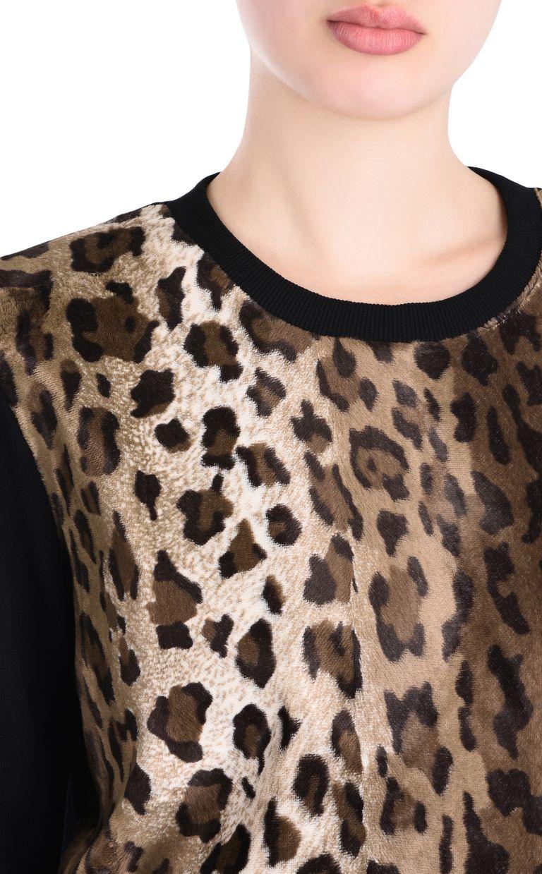 JUST CAVALLI Felpa manto di leopardo Felpa Donna e