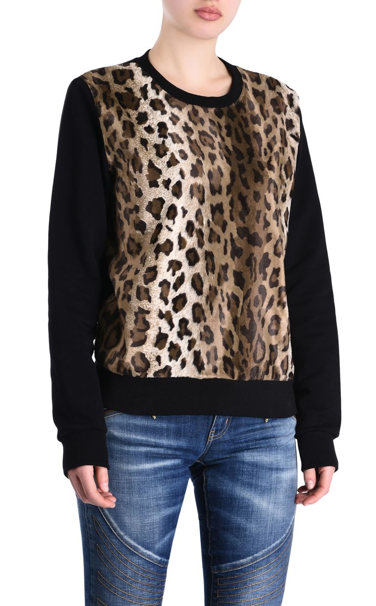 JUST CAVALLI Felpa manto di leopardo Felpa Donna f