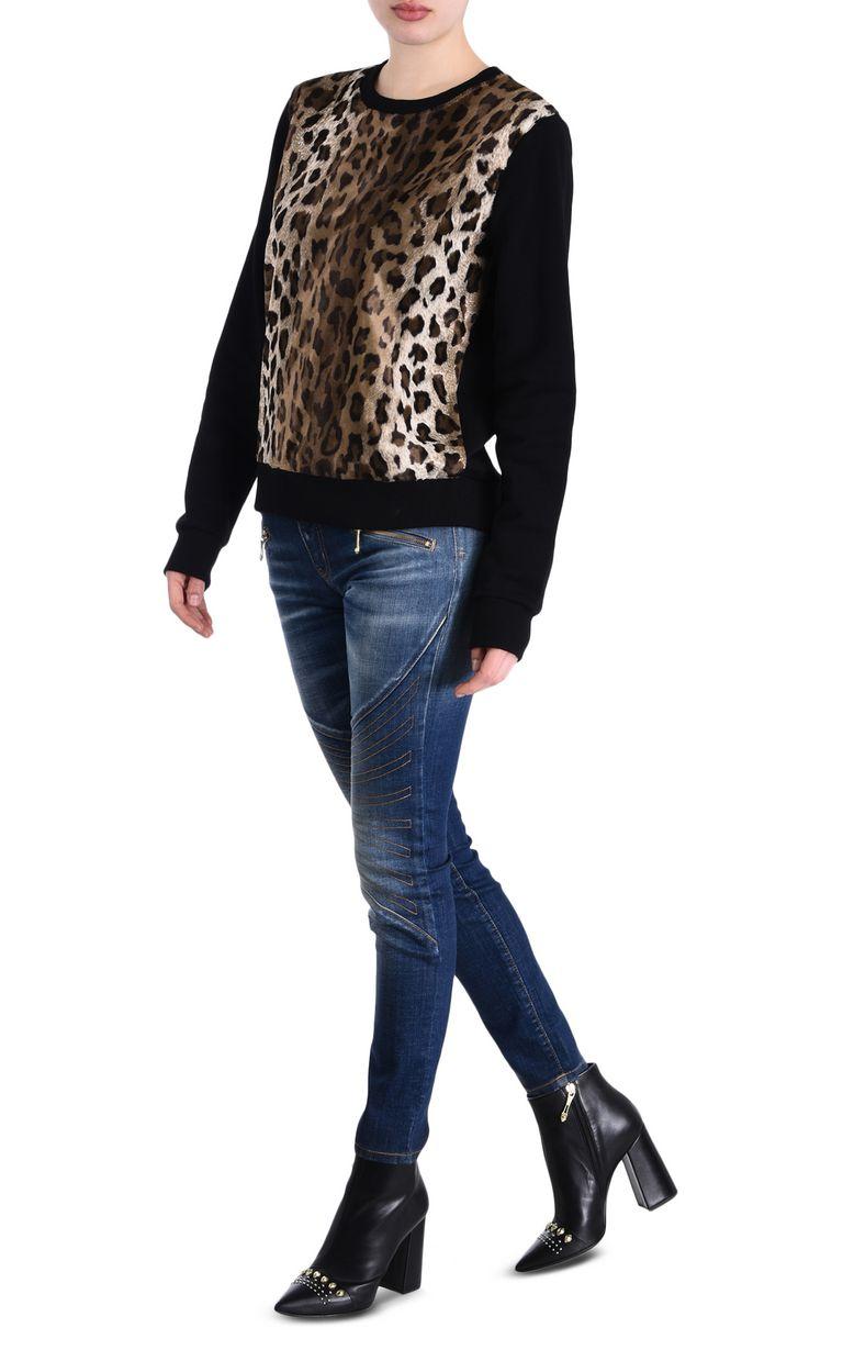 JUST CAVALLI Felpa manto di leopardo Felpa Donna r