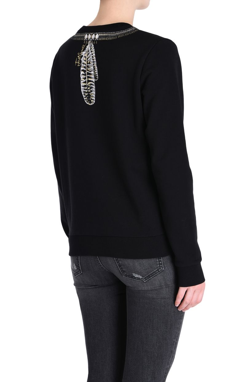 JUST CAVALLI Tribal necklace sweatshirt Sweatshirt Woman d