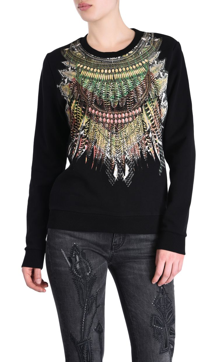 JUST CAVALLI Tribal necklace sweatshirt Sweatshirt Woman f