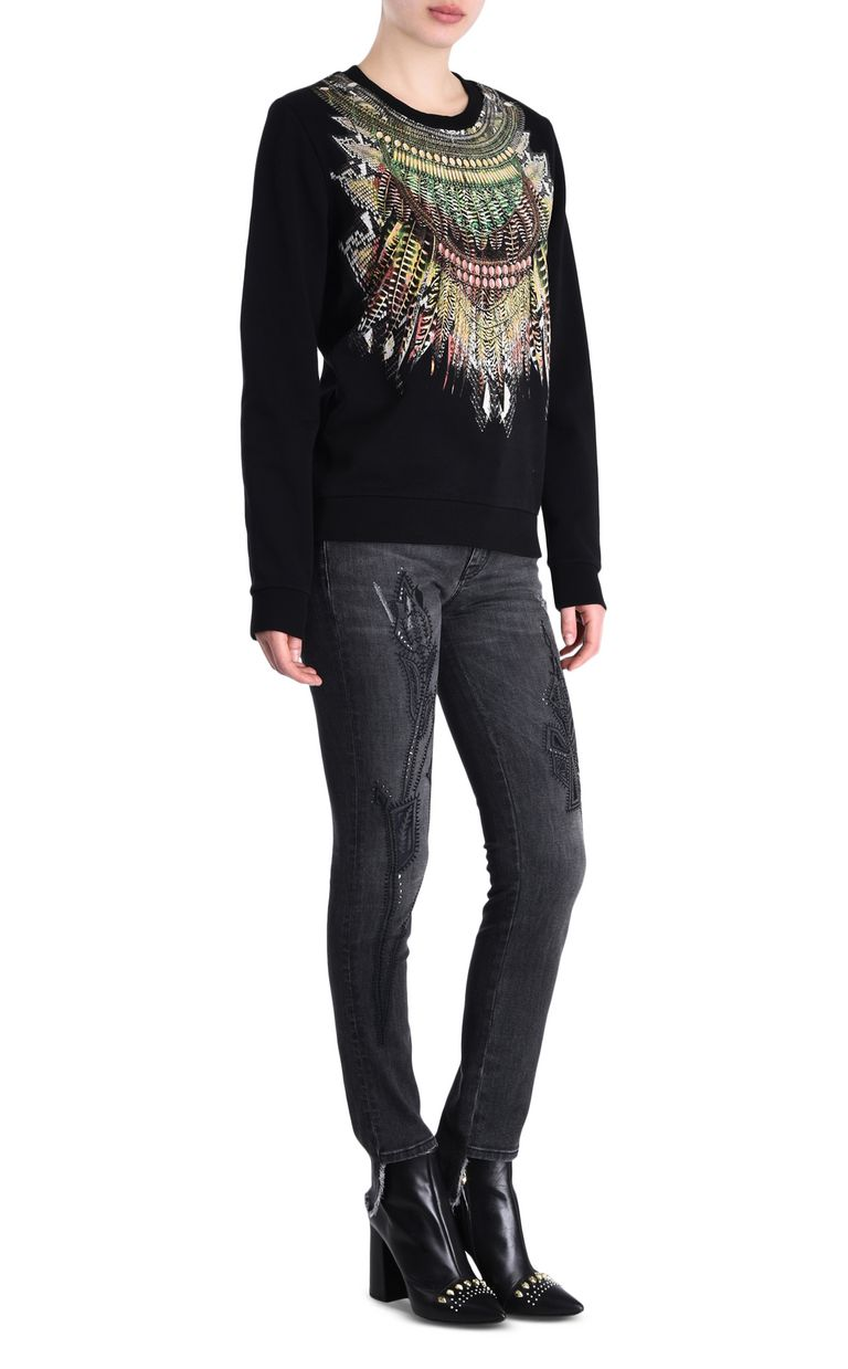 JUST CAVALLI Tribal necklace sweatshirt Sweatshirt Woman r