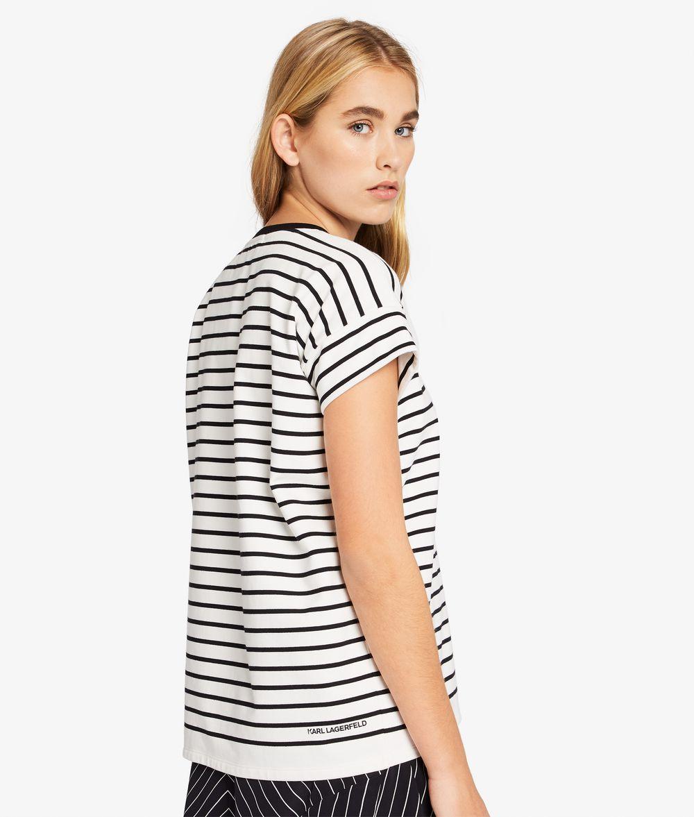KARL LAGERFELD Kurzärmliges Logo-Sweatshirt Sweatshirt Damen d