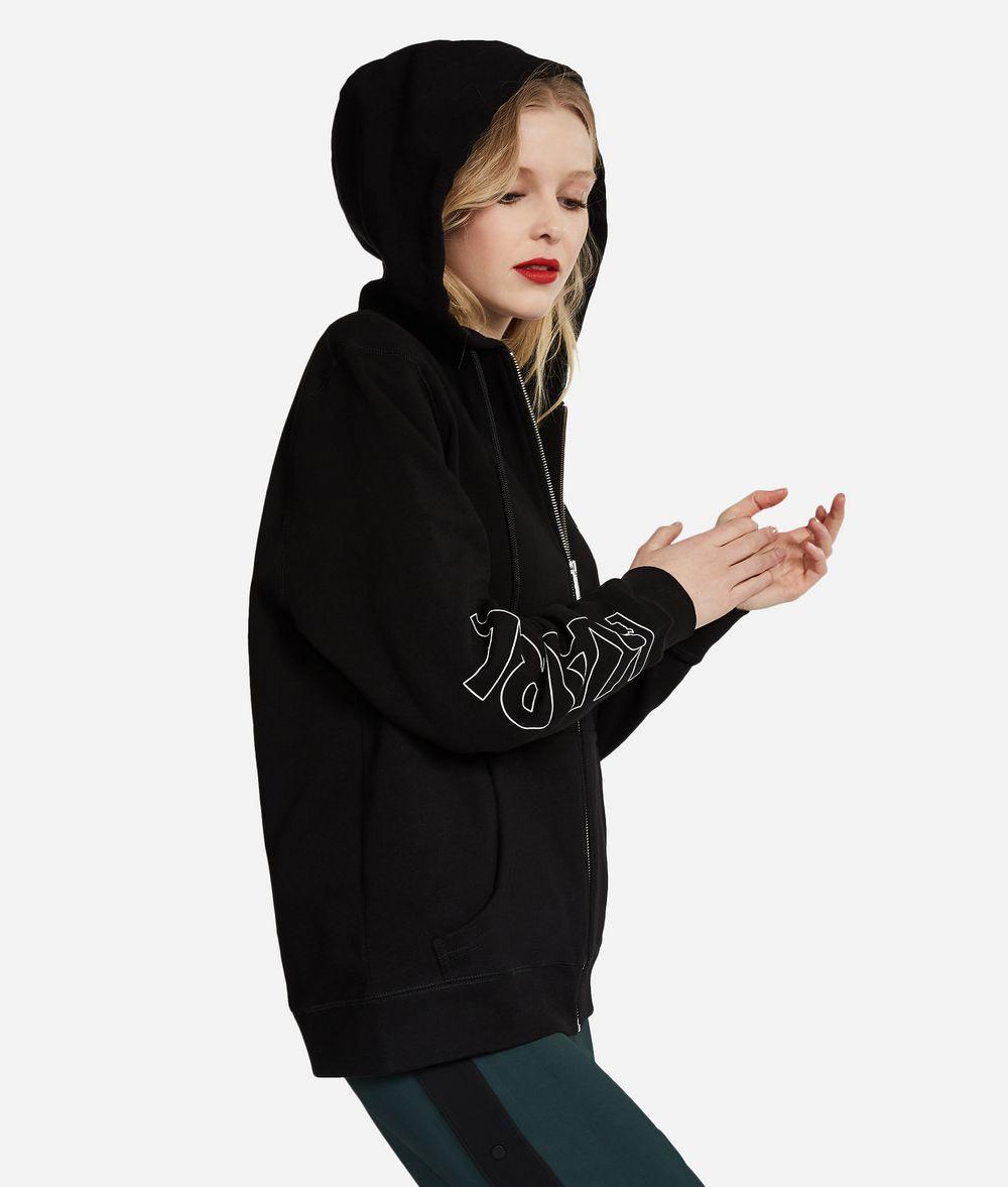 KARL LAGERFELD K/Ikonik Zipper Hoodie Sweatshirt Woman d