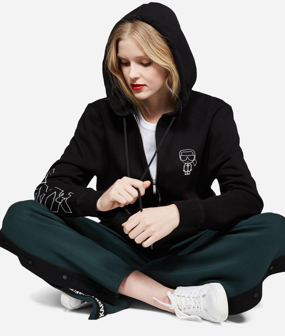 KARL LAGERFELD K/Ikonik Zipper Hoodie Sweatshirt Woman f