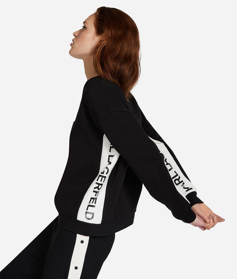 KARL LAGERFELD V-Neck Logo Sweatshirt Sweatshirt Woman d