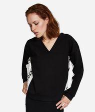 KARL LAGERFELD V-Neck Logo Sweatshirt 9_f
