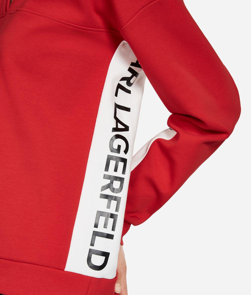 KARL LAGERFELD Logo-Sweatshirt mit V-Ausschnitt Sweatshirt Damen d