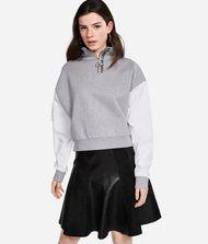KARL LAGERFELD Kurzes Sweatshirt mit Zip-up-Kragen 9_f