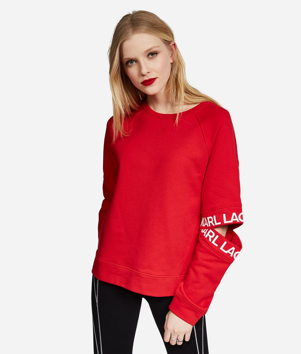 KARL LAGERFELD Cut-Out Sleeve Sweatshirt Sweatshirt Woman f