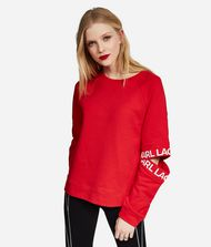 KARL LAGERFELD Sweatshirt Damen Sweatshirt mit Cut-out am Ärmel f