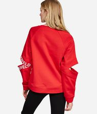 KARL LAGERFELD Sweatshirt mit Cut-out am Ärmel Sweatshirt Damen r