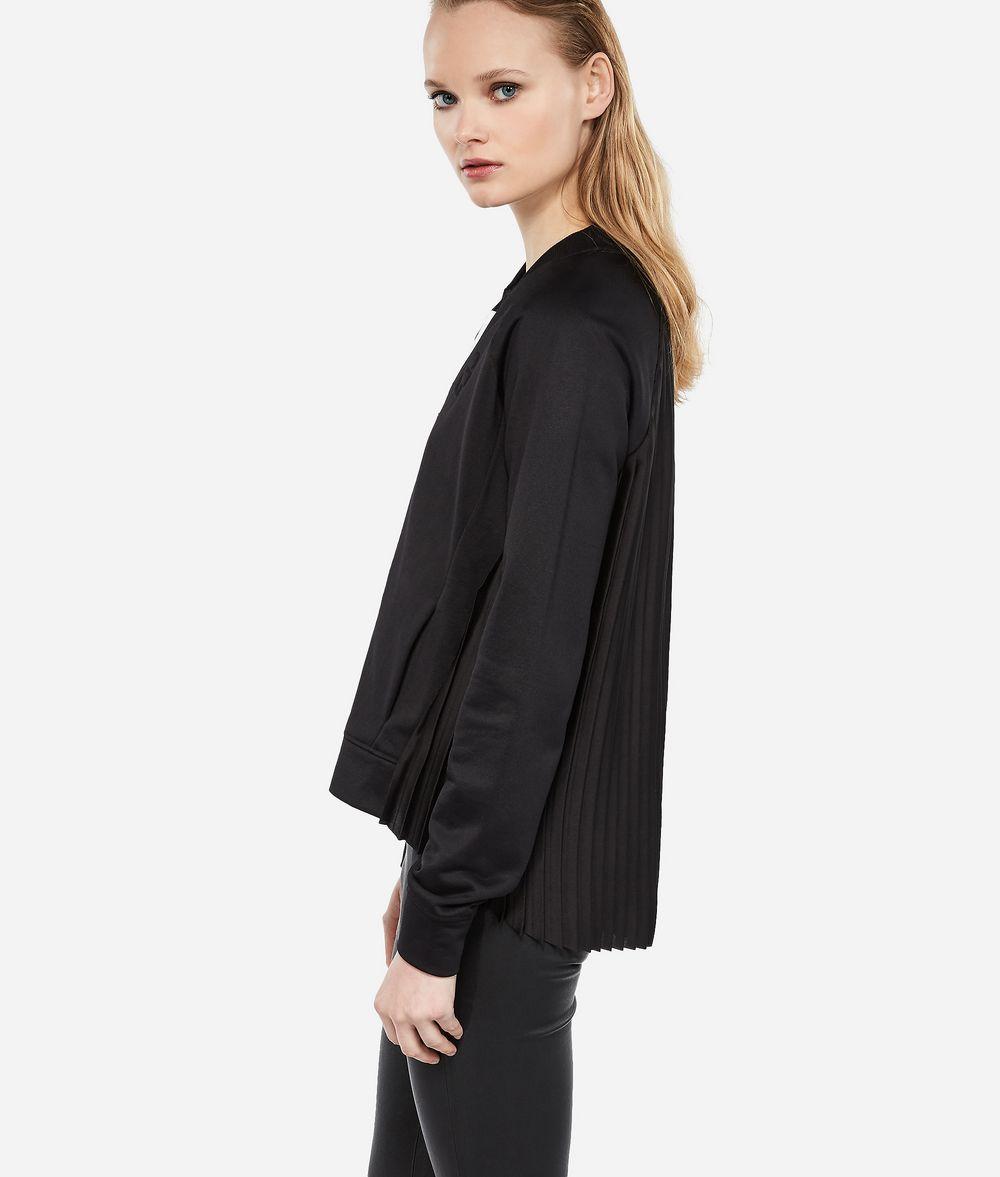 KARL LAGERFELD Bomberjacke mit plissiertem Rückteil Sweatshirt Damen d