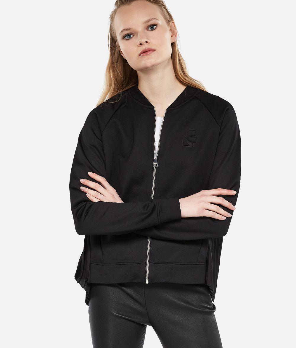 KARL LAGERFELD Bomberjacke mit plissiertem Rückteil Sweatshirt Damen f