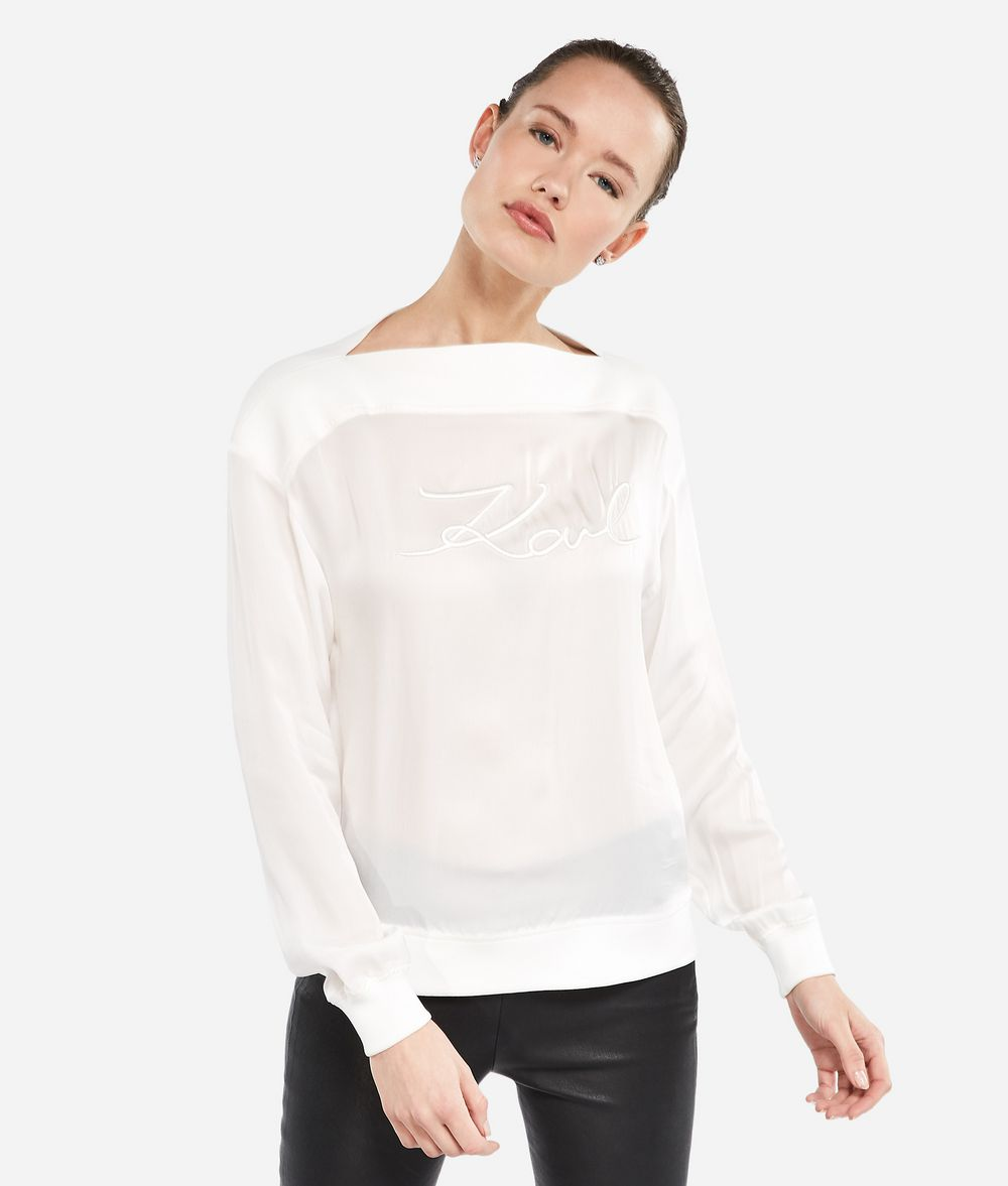 KARL LAGERFELD K/Signature Sweatshirt Sweatshirt Damen f