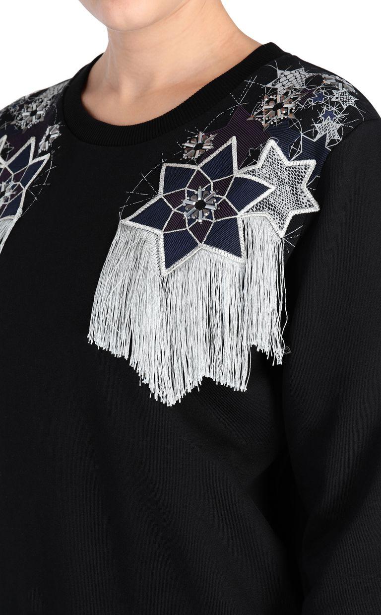 JUST CAVALLI Sweatshirt with fringe detail Sweatshirt [*** pickupInStoreShipping_info ***] e