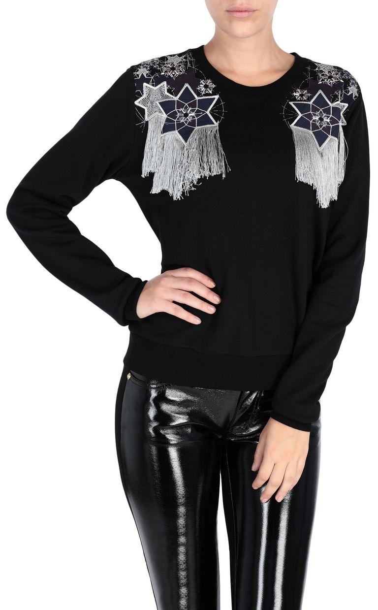 JUST CAVALLI Sweatshirt with fringe detail Sweatshirt [*** pickupInStoreShipping_info ***] f