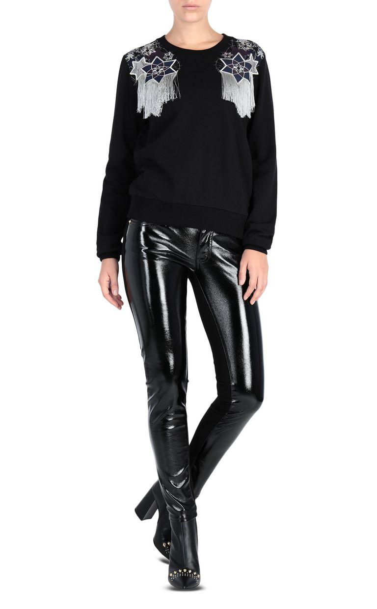 JUST CAVALLI Sweatshirt with fringe detail Sweatshirt [*** pickupInStoreShipping_info ***] r
