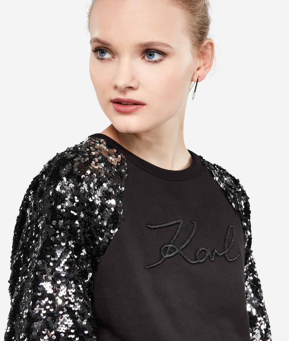 KARL LAGERFELD K/Signature Sweatshirt mit Stickerei Sweatshirt Damen d