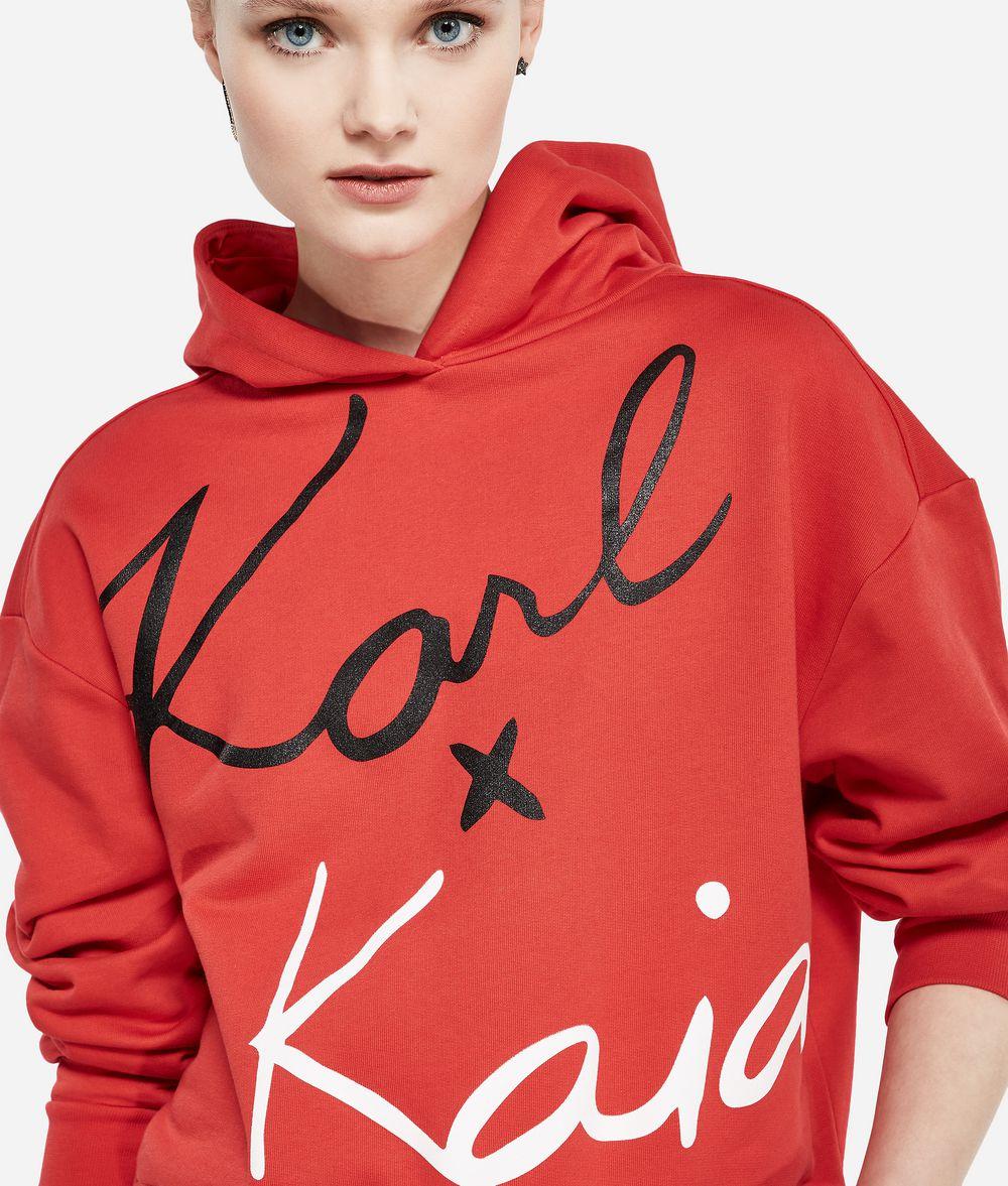KARL LAGERFELD Karl x Kaia Cropped-Hoodie Sweatshirt Damen f