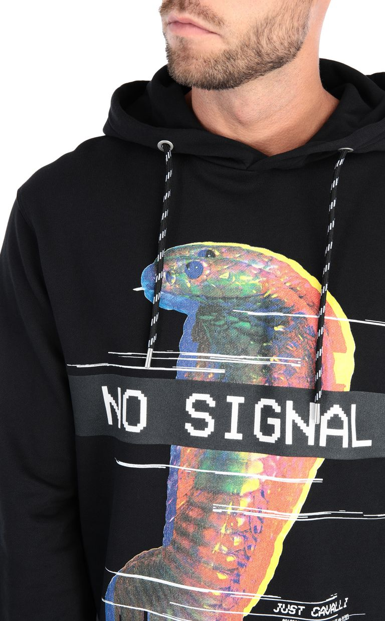 JUST CAVALLI No Signal sweatshirt with hood Sweatshirt [*** pickupInStoreShippingNotGuaranteed_info ***] e