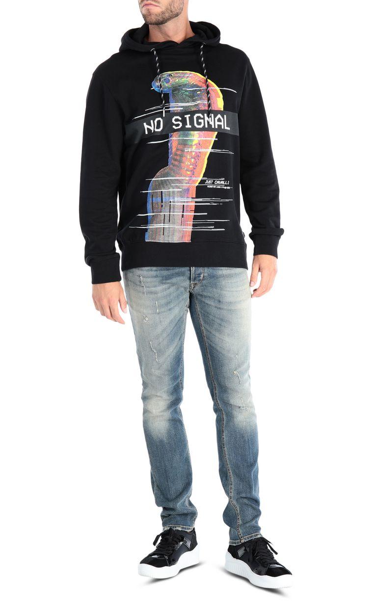 JUST CAVALLI No Signal sweatshirt with hood Sweatshirt [*** pickupInStoreShippingNotGuaranteed_info ***] r