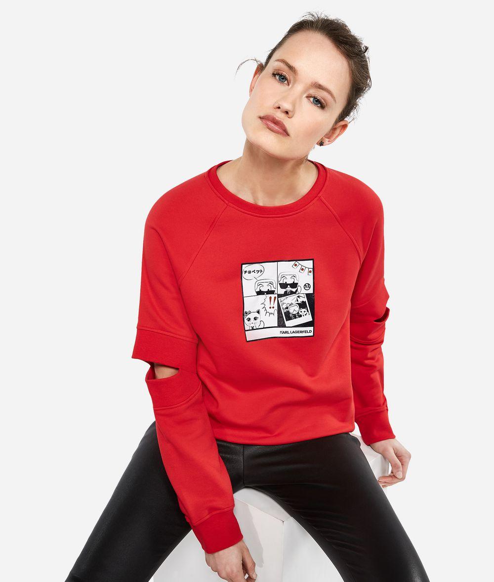 KARL LAGERFELD K/Tokyo Cut-Out Sweatshirt Sweatshirt Woman f