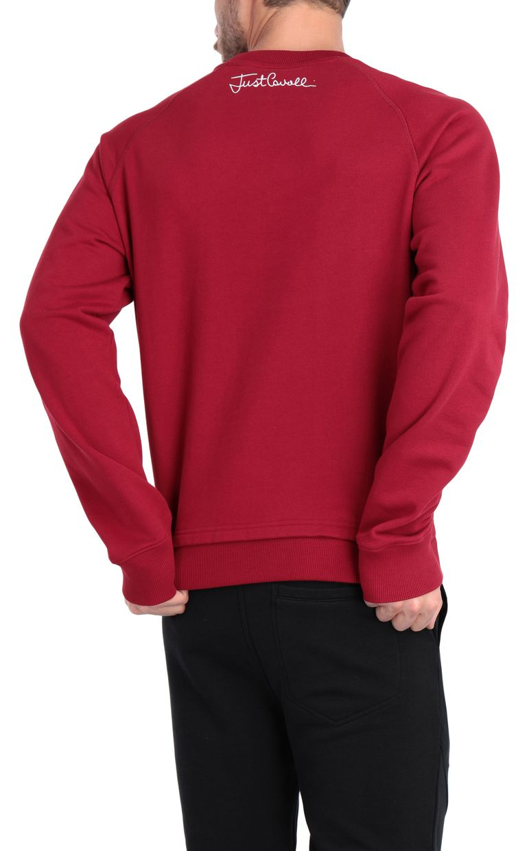 JUST CAVALLI Animal-print sweatshirt in red Sweatshirt Man r