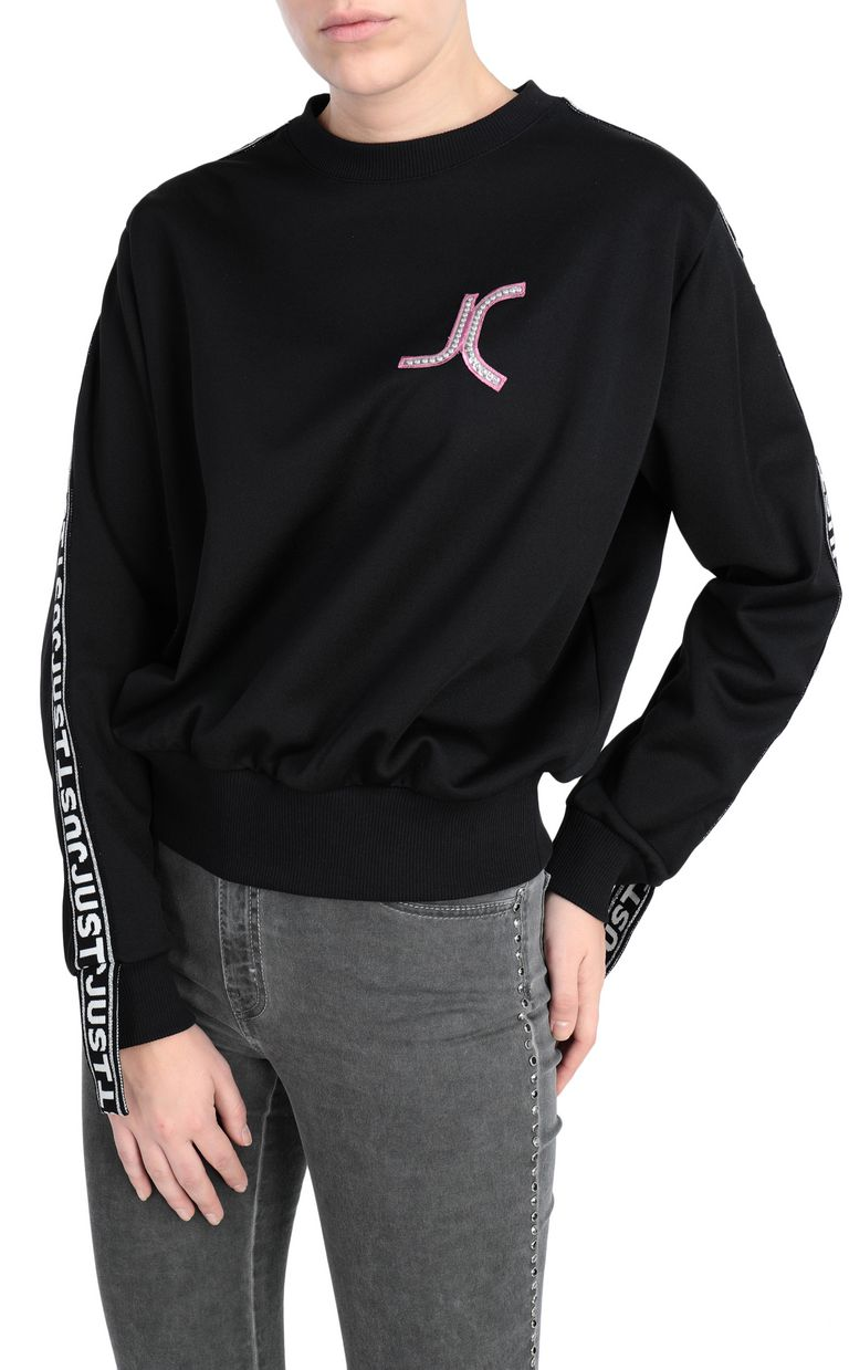 JUST CAVALLI Sweatshirt with logo print design Sweatshirt Woman f