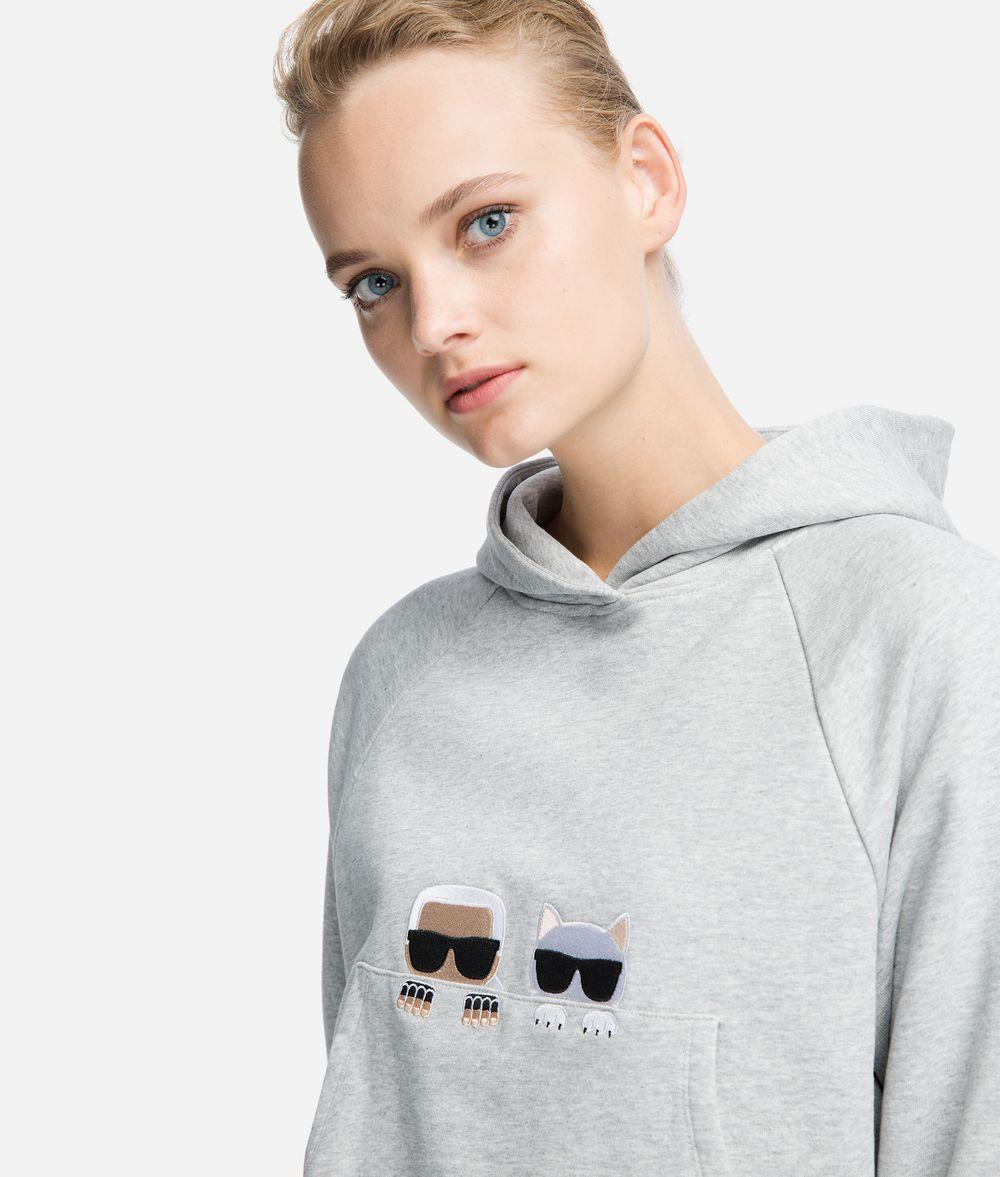KARL LAGERFELD K/Ikonik Artwork Hoodie Sweatshirt Woman d