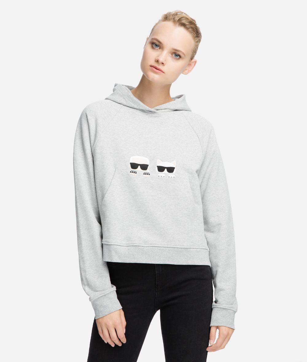KARL LAGERFELD K/Ikonik Artwork Hoodie Sweatshirt Woman f