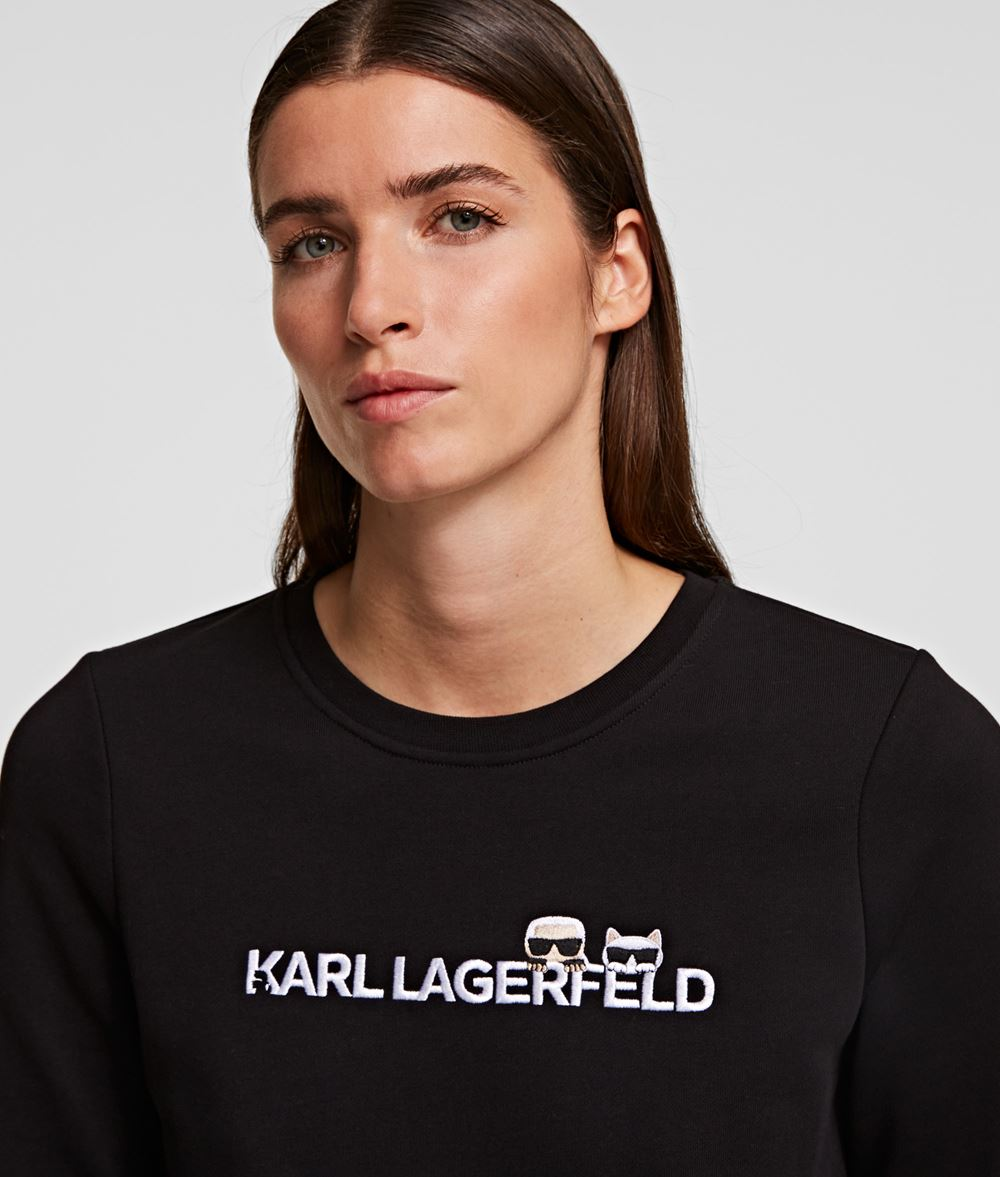 KARL LAGERFELD K/Ikonik Logo Sweatshirt Sweatshirt Woman d