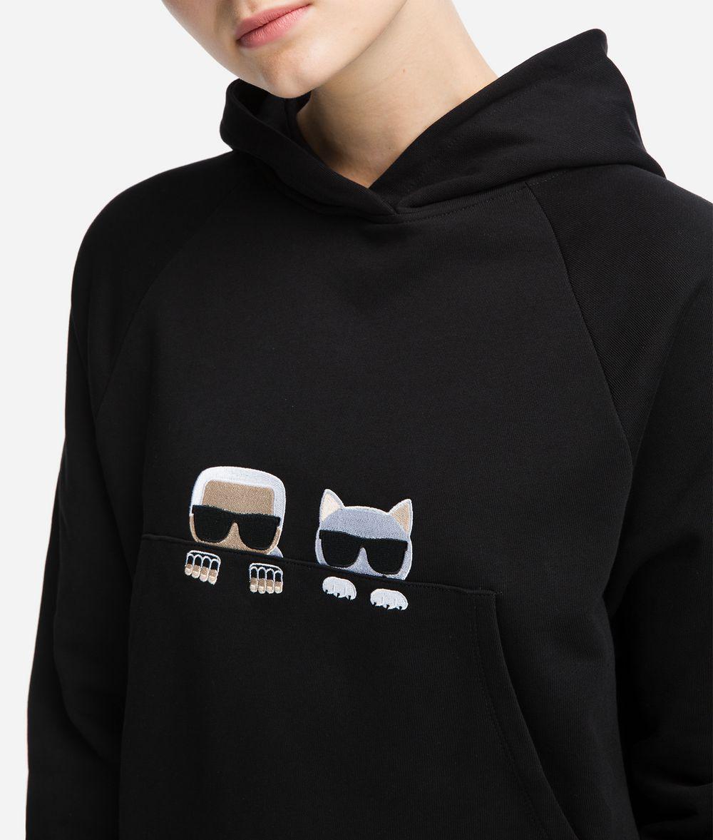 KARL LAGERFELD K/Ikonik Hoodie mit Logomotiven Sweatshirt Damen d