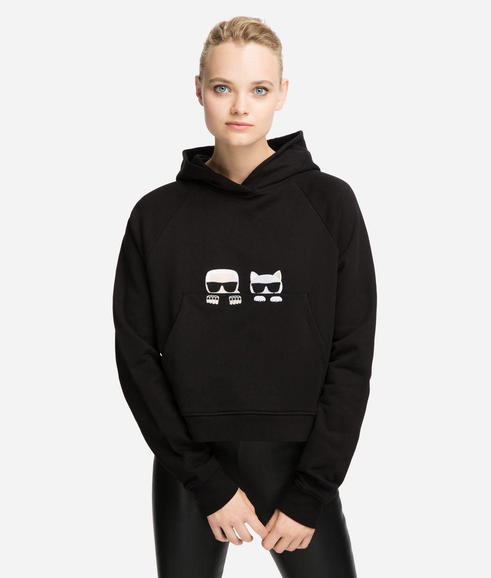 KARL LAGERFELD K/Ikonik Hoodie mit Logomotiven Sweatshirt Damen f