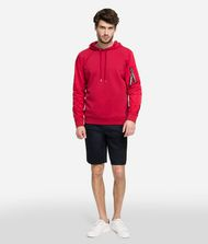 KARL LAGERFELD Fabric Mix Hoodie Sweatshirt Man a