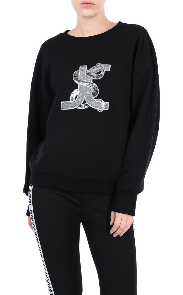 JUST CAVALLI Logoed sweatshirt with snake detail Sweatshirt [*** pickupInStoreShipping_info ***] f