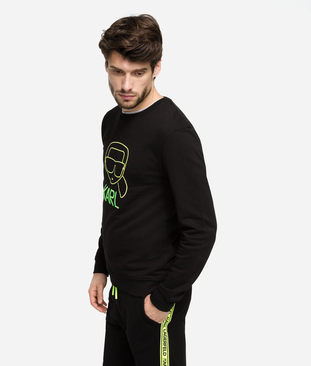 KARL LAGERFELD Neon Ikonik Sweatshirt Sweatshirt Man d