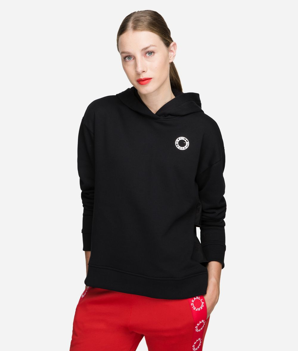 KARL LAGERFELD Hoodie with Ruffle Sweatshirt Woman f