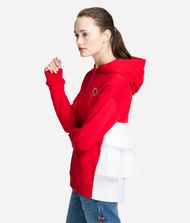 KARL LAGERFELD Hoodie with Ruffle Sweatshirt Woman a