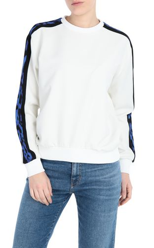 JUST CAVALLI Sweatshirt Woman Sweatshirt with leopard f