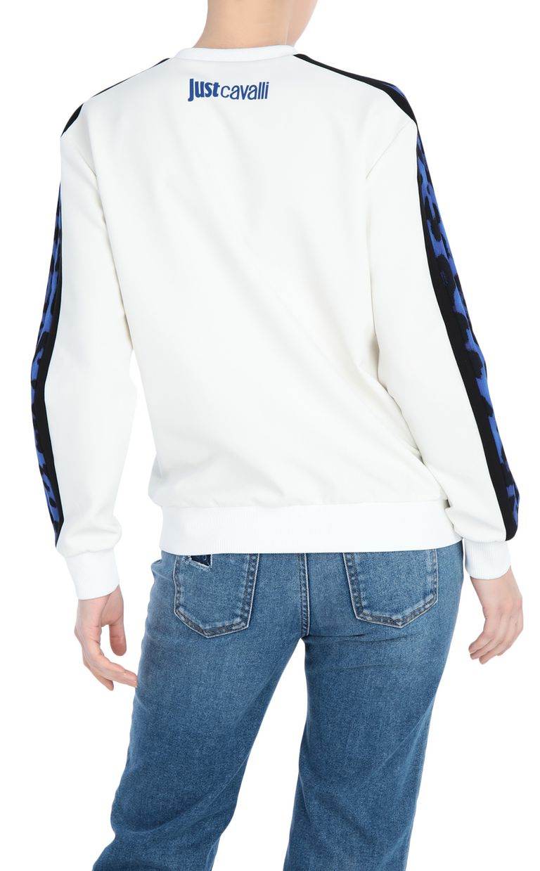 JUST CAVALLI Sweatshirt with leopard-print band Sweatshirt [*** pickupInStoreShipping_info ***] r