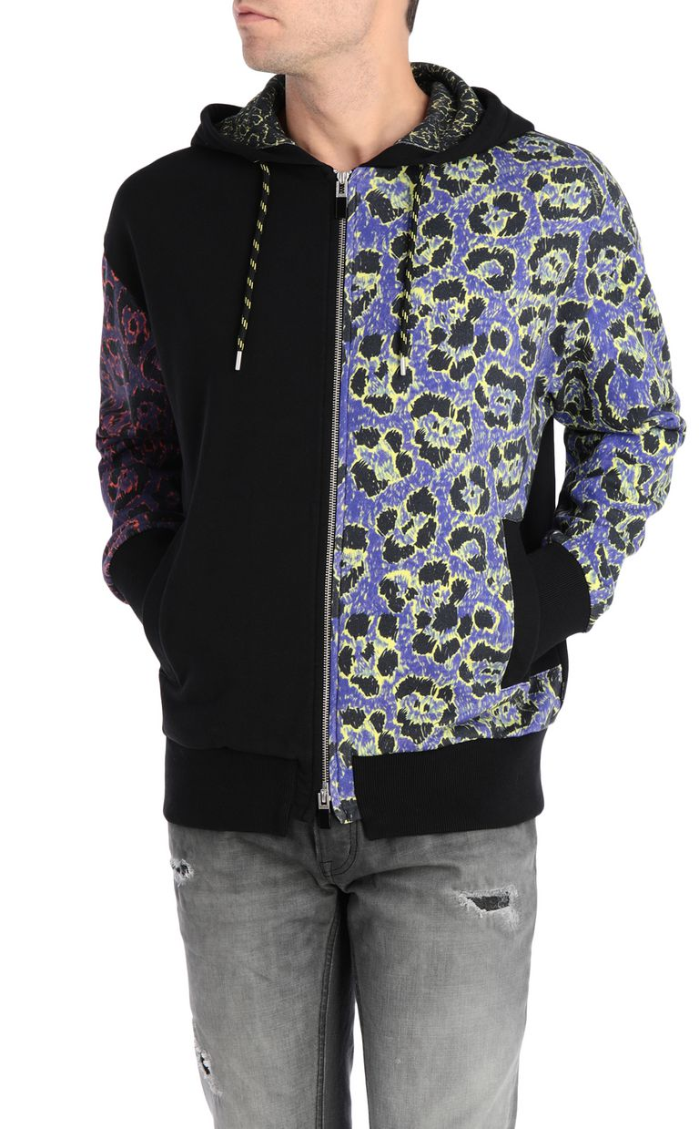JUST CAVALLI Hoodie with leopard print Sweatshirt Man f