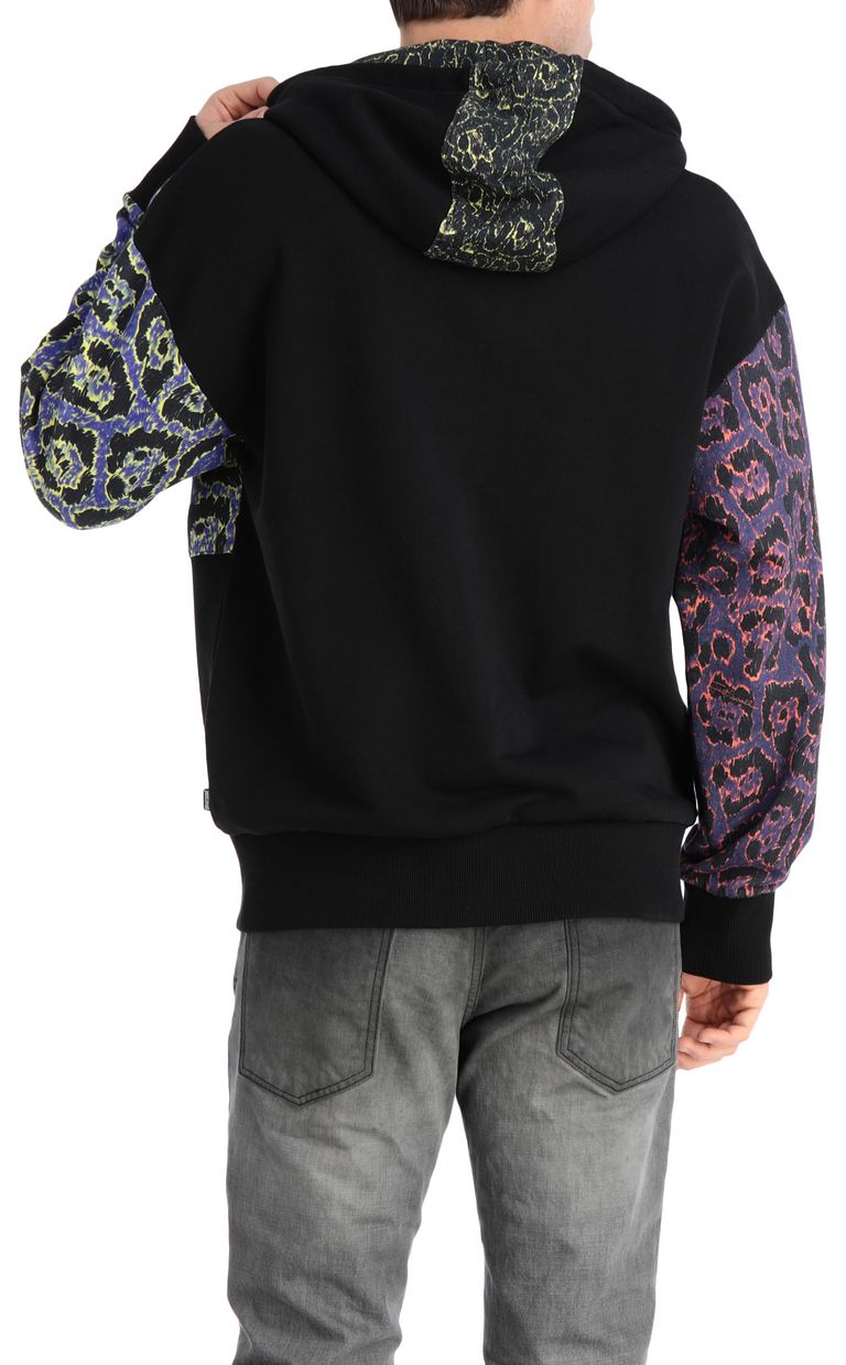 JUST CAVALLI Hoodie with leopard print Sweatshirt Man r