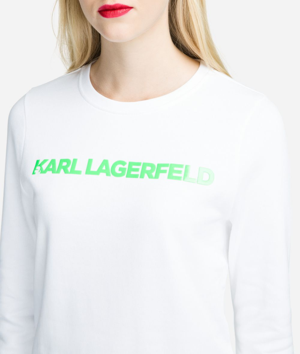 KARL LAGERFELD Neon Lights Logo Sweatshirt Sweatshirt Woman d