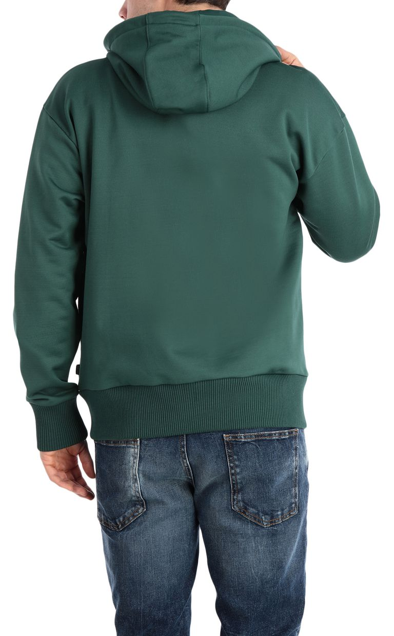 JUST CAVALLI Hoodie with leopard-print bands Sweatshirt Man r